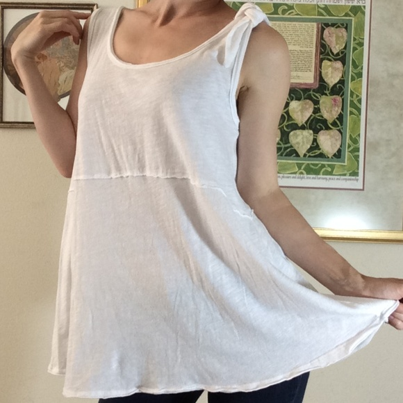 Anthropologie Tops - Anthro PURE & GOOD White Flowy Tunic Swim Cover